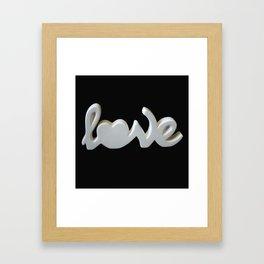 Love is the Word Framed Art Print