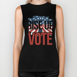Rise up and Vote Gift for Non Voting Midterm Elections Biker Tank