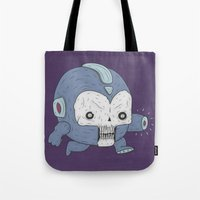 mega man Tote Bags featuring MEGA MAN / NES by UNDEAD MISTER / MRCLV