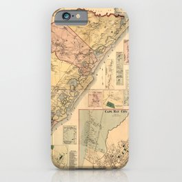 Map Of Cape May 1872 iPhone Case