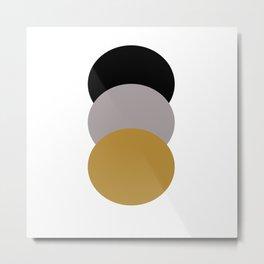 Circles 1: Old World Metal Print