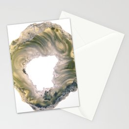 Green scarf agate Stationery Cards