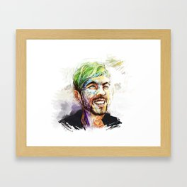 Fingerpainting Jacksepticeye Framed Art Print