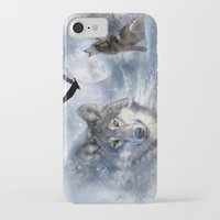 wolves iPhone & iPod Cases featuring Wolves by Julie Hoddinott