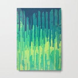 Green Grunge Color Splatter Graffiti Backstreet Wall Background Metal Print