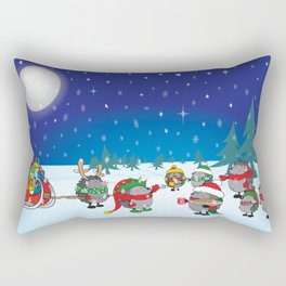 Hedgehog's Christmas magic Rectangular Pillow