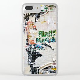 Urban collage Clear iPhone Case