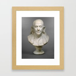Historical Bust of Ben Franklin Photograph (1778) Framed Art Print