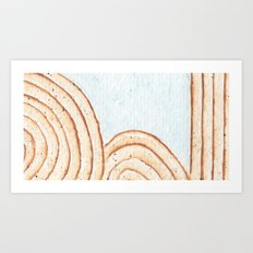 Sand and Water Art Print