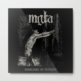 Black metal Metal Print