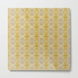 Gold & Silver Embellish Celeriac Pattern Metal Print