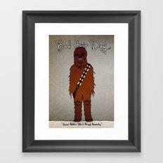bad hair day no:3 / Chewbacca  Framed Art Print
