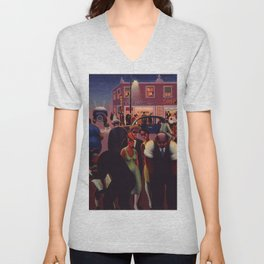 African-American 1934 Classical Masterpiece 'Black Belt' by Archibald Motley Unisex V-Neck