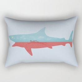 Bad day for a swim Rectangular Pillow