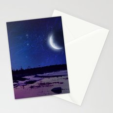 Night - From Day And Night Painting Stationery Cards