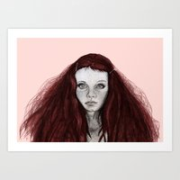 redhead Art Prints featuring Redhead by AParry