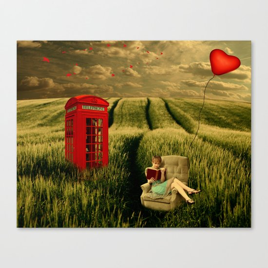 My baby should call anytime Canvas Print