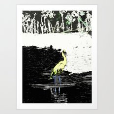 Yellow Fellow Art Print