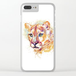 Cougar Head Clear iPhone Case