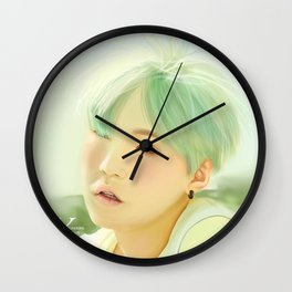 Mint Yoongi Wall Clock