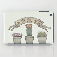 cacti iPad Cases featuring Cacti by cyrrs