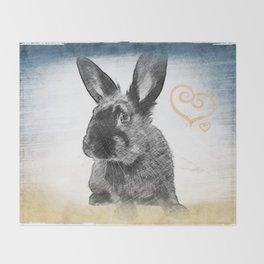 luv bunny Throw Blanket