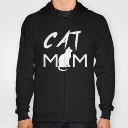 CAT MOM Funny Shirt Cat T-Shirt Tee Mama Cat Kitten Lover T-shirt Tee Top Women Hoody