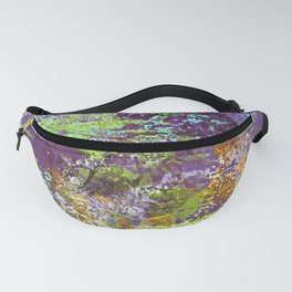 Heron Abstract Painting Fanny Pack