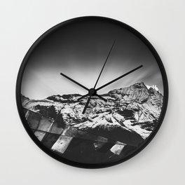 Namché Bazar mountain view in Nepal Wall Clock