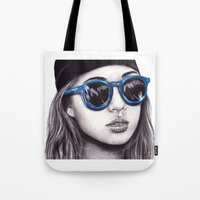 coachella Tote Bags featuring Coachella  by Bella Harris