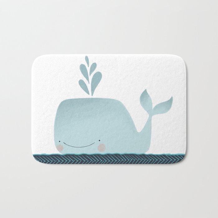 Whale Hello Bath Mat