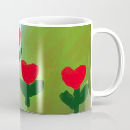 Hearts from a Rose Red and Green Coffee Mug