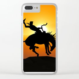 cowboy silhouette Clear iPhone Case