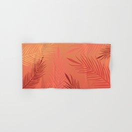 Living coral palm leaves Hand & Bath Towel