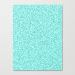 Melange - White and Turquoise Canvas Print
