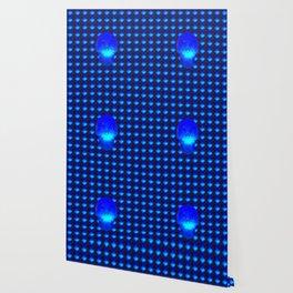 Blue Crystal Skull Wallpaper