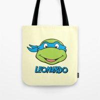 leonardo Tote Bags featuring Leonardo by husavendaczek