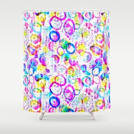 Sweet As Candy - colorful watercolor pattern by Lo Lah Studio Shower Curtain