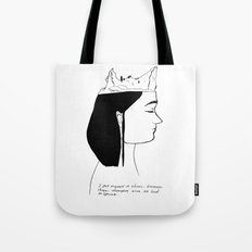 You are never out of my head  Tote Bag