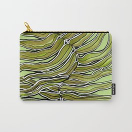 Green Leafy Zen Leaf Carry-All Pouch