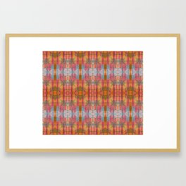 Muticolored Shibori Tie Dye Framed Art Print