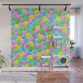 Cannabis Candy Hearts Wall Mural