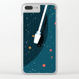 Space Vinyl Clear iPhone Case