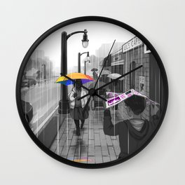 Passing in the Street Wall Clock