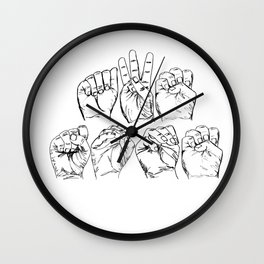 Awesome American Sign Language design Gift Awesome ASL graphic Wall Clock