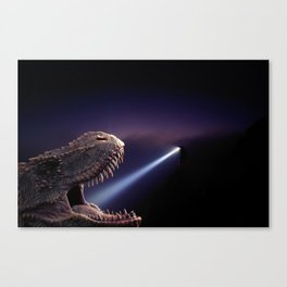 T-rex at the dentist by GEN Z Canvas Print