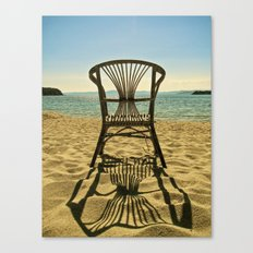 chair on the beach Canvas Print