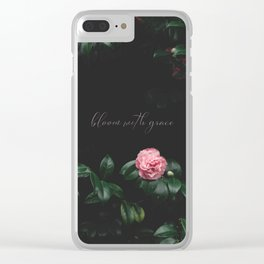 bloom with grace Clear iPhone Case