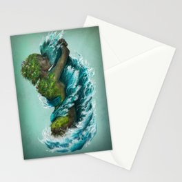 Kiss of the Land and Sea Stationery Cards