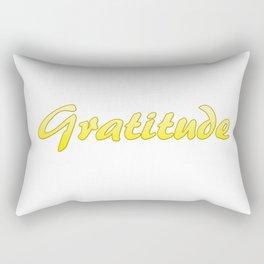 Inspiration Words...Gratitude Rectangular Pillow